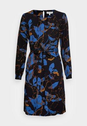 DEVERELL TIE FRONT DRESS - Day dress - black