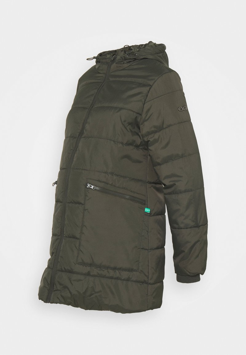 Modern Eternity - GIANNA QUILTED PUFFER HYBRID MATERNITY JACKET - Light jacket - khaki