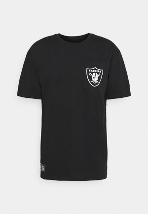 LAS VEGAS RAIDERS NFL BOX LOGO TEE - T-shirt print - black