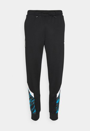OLYMPIQUE MARSEILLE ICONIC GRAPHIC TRACK PANTS - Club wear - black/white