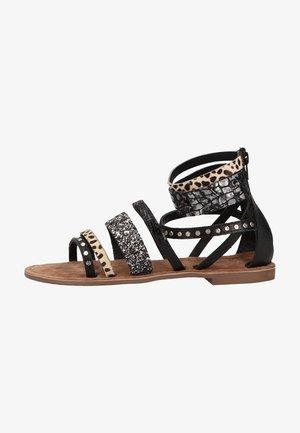 Ankle cuff sandals - dalmatian