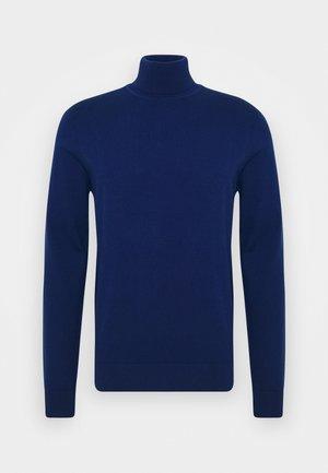 Strikkegenser - royal blue
