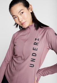 Under Armour - SPEED STRIDE SPLIT WORDMARK HALF ZIP - Sports shirt - hushed pink/black - 3