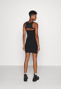 Even&Odd - Basic mini ribbed skirt - Kynähame - black - 2