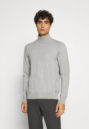 BURNS - Strickpullover - mottled light grey