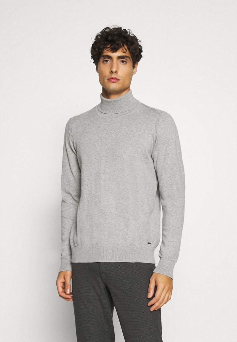 INDICODE JEANS - BURNS - Pullover - mottled light grey