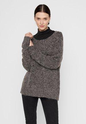 NOOS - Strickpullover - dark grey melange