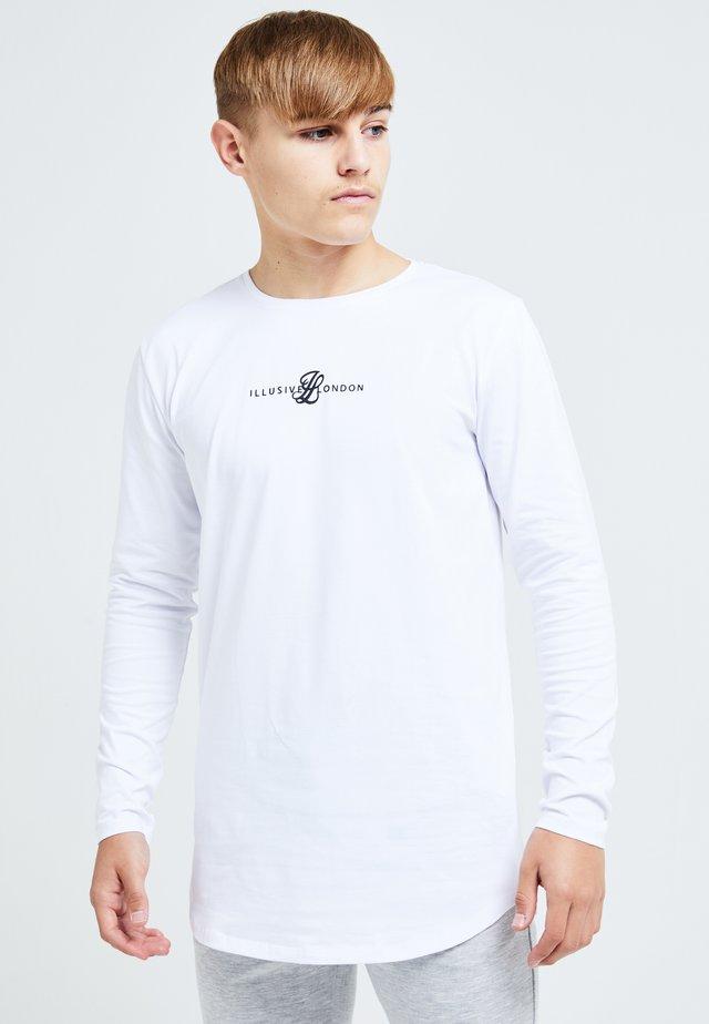 ILLUSIVE LONDON DUAL - T-shirt à manches longues - white