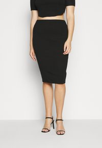 Missguided Plus - MIDAXI SKIRT - Pencil skirt - black - 0