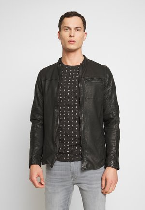 BEJACEK - Leather jacket - black