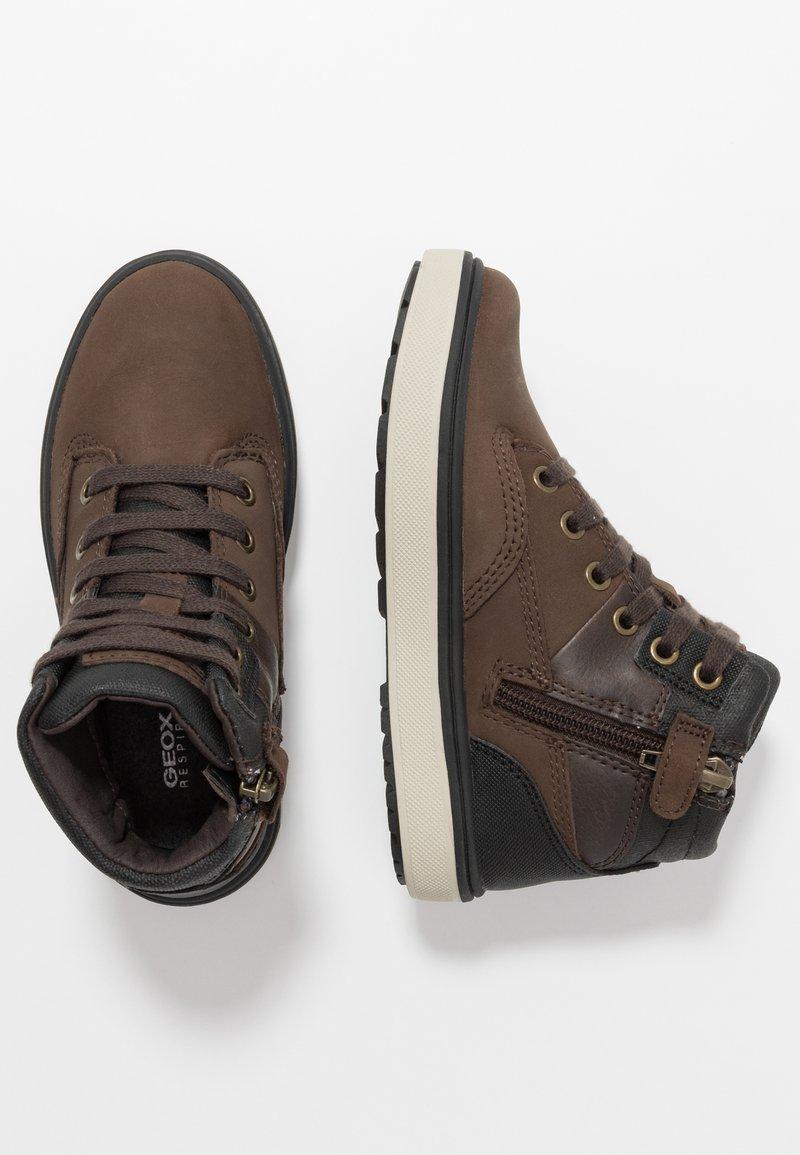 Geox - MATTIAS BOY ABX - Lace-up ankle boots - coffee/black