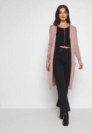 JDYMARCO LONG CARDIGAN - Strickjacke - woodrose melange
