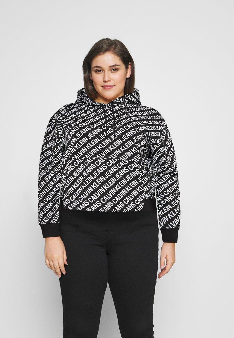 Calvin Klein Jeans Plus - Sweatshirt - black/ white
