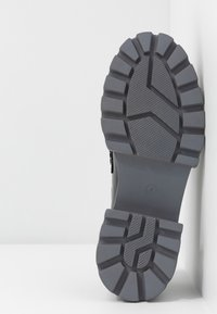 Koi Footwear - VEGAN GENSAI ASHEN PIERCED LOAFERS  - Platform heels - black shine/grey - 6