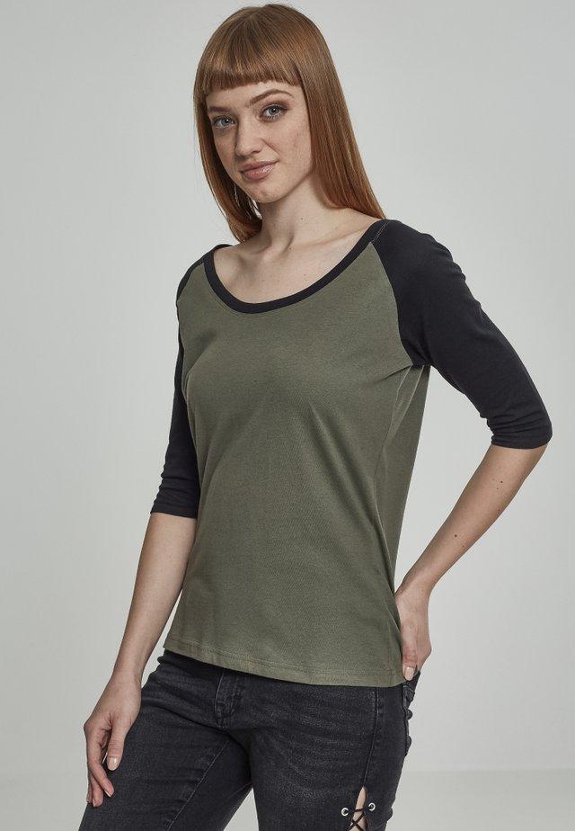 T-shirt imprimé - olive/black