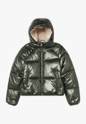 METALLIC SHINE PUFFER - Zimní bunda - green