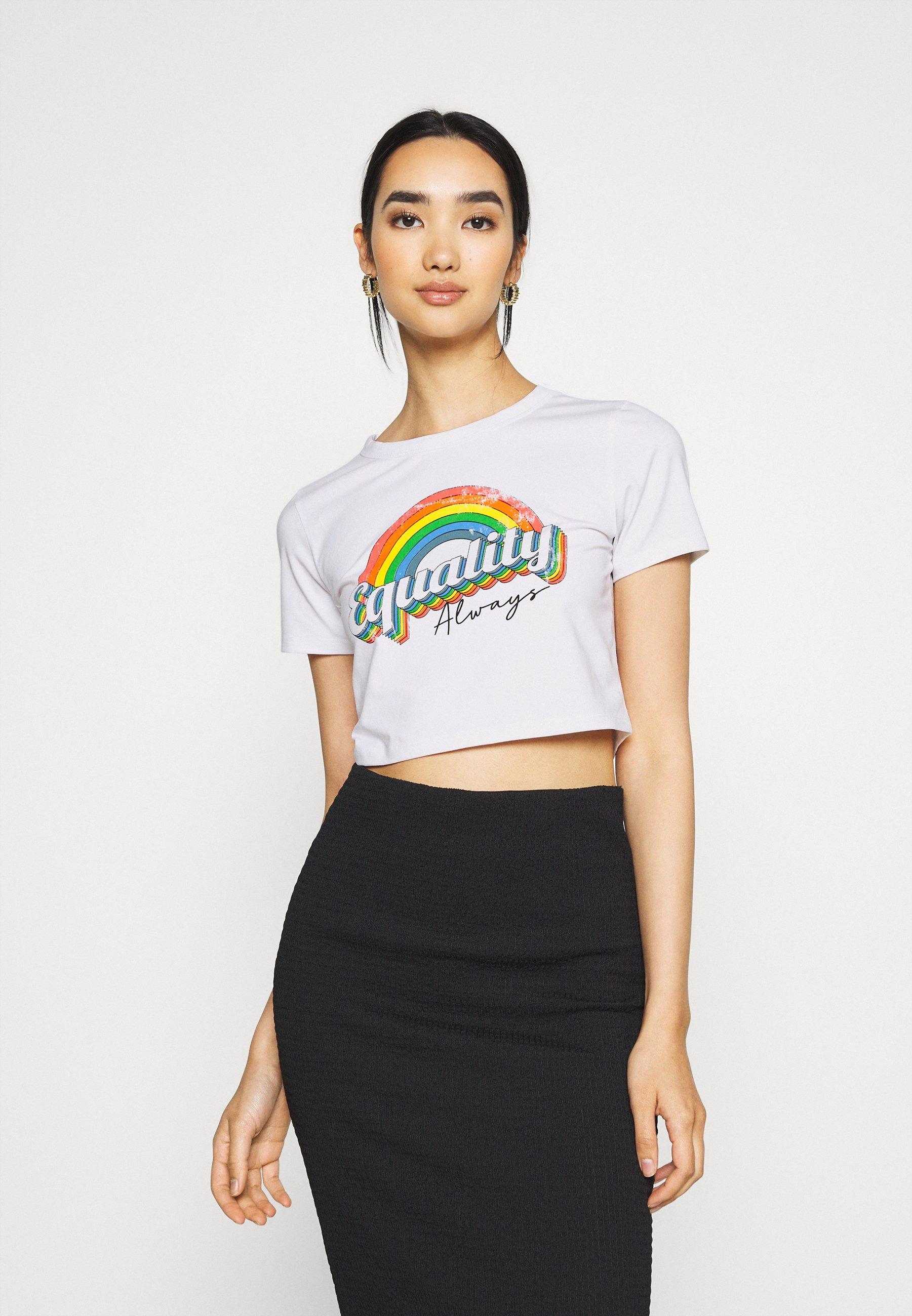 Women EQUALITY ALWAYS CAP SLEEEVE CROP - Print T-shirt