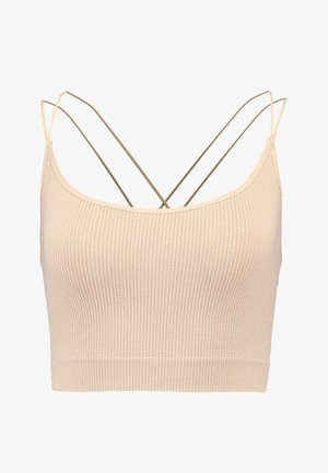 GLITTER STRAPPY BACK CAMI - Top - nude