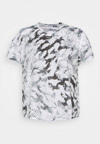 FAST ALL OVER PRINT SUPERNOVA AEROREADY - Print T-shirt - grey one/white