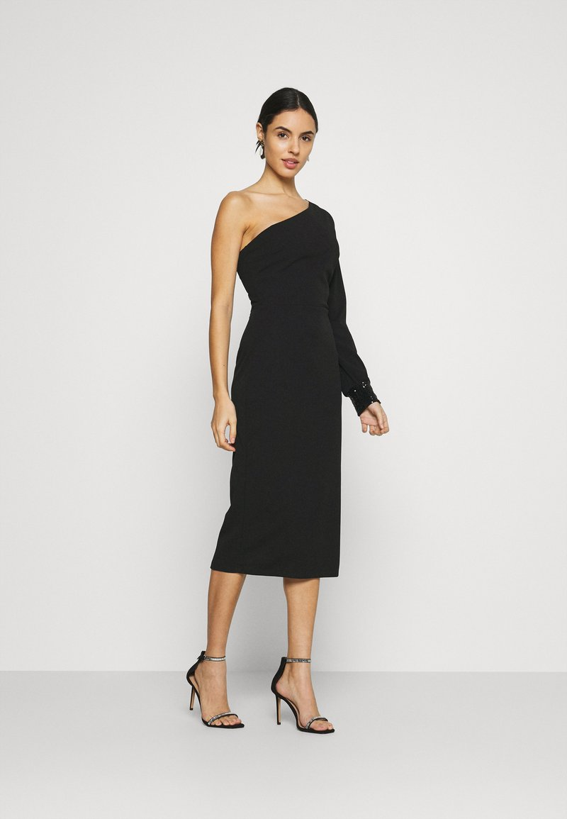 WAL G. - OLIVIA ONE SLEEVE MIDI DRESS - Shift dress - black