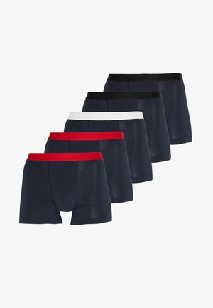5 PACK - Pants - dark blue/red