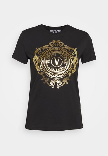 TEE - Print T-shirt - black/gold