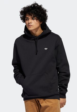 Hoodie - black   oyster white