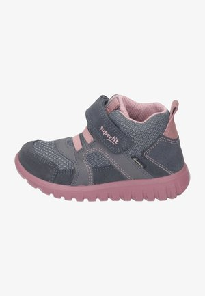 High-top trainers - grau/rosa