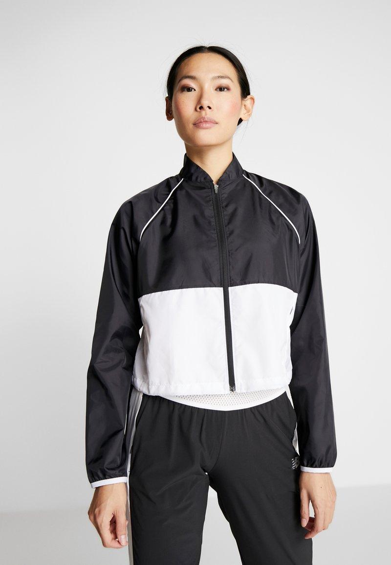 New Balance - VELOCITY JACKET - Sports jacket - black/white