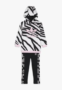 adidas Originals - HOODIE SET - Träningsset - black/white/clear pink - 0