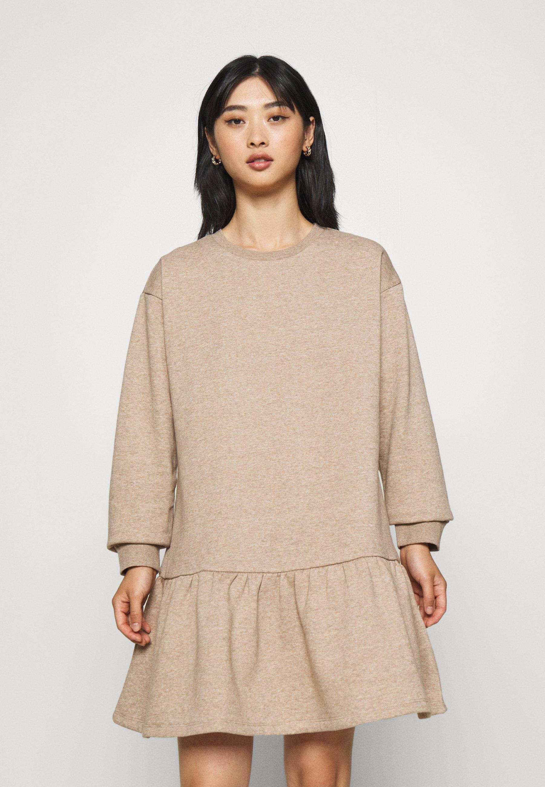 Women PCCHILLI LS FLOUNCE DRESS - Day dress