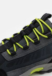 Columbia - YOUTH FLOW BOROUGH LOW UNISEX - Hiking shoes - graphite/acid green - 5