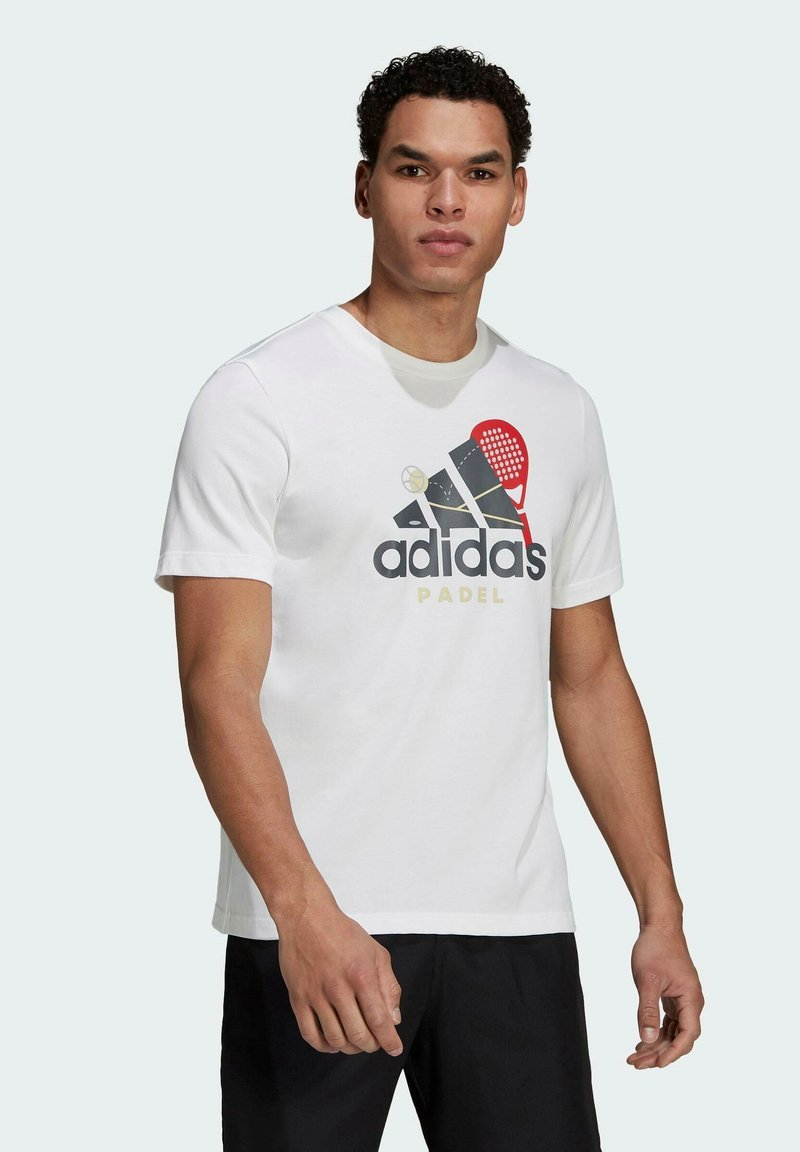 adidas Performance - PADEL GRAPHIC LOGO T-SHIRT - Print T-shirt - white