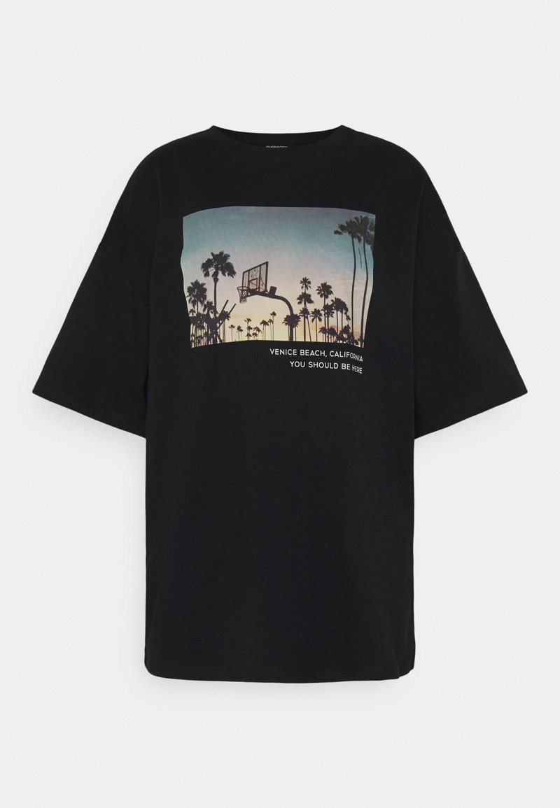 Even&Odd - Print T-shirt - black