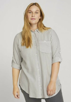 LANGE GESTREIFTE  - Button-down blouse - anthra white stripe