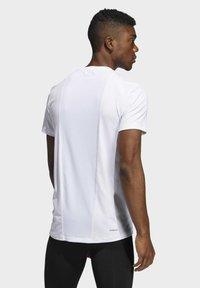adidas Performance - TECHFIT COMPRESSION T-SHIRT - T-shirt - bas - white - 1