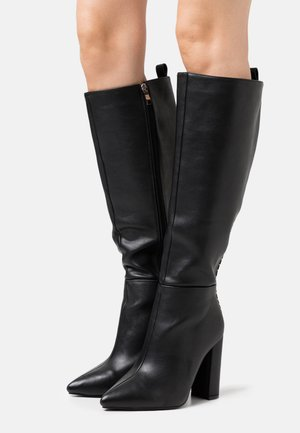 WIDE FIT  - High heeled boots - black