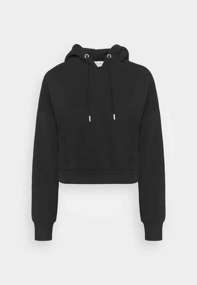 CROPPED HOODIE - Sweater - black