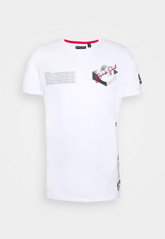 VOID - T-shirt med print - optic white