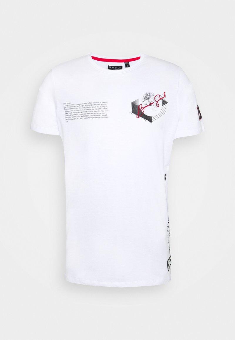 Brave Soul - VOID - Print T-shirt - optic white
