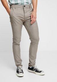 Topman - HERITAGE CHECK  - Pantaloni - brown - 0