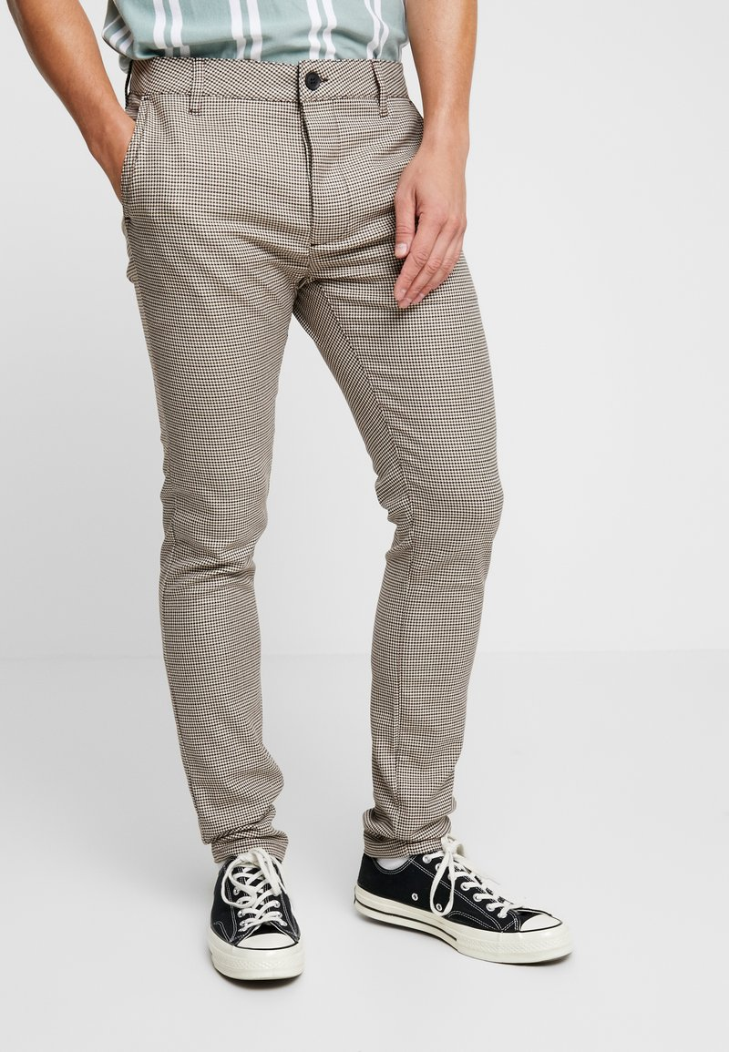 Topman - HERITAGE CHECK  - Pantaloni - brown