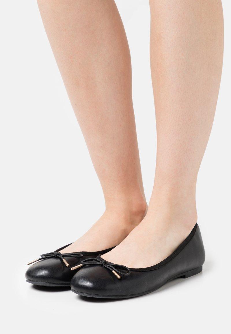Tamaris - Ballet pumps - black matt