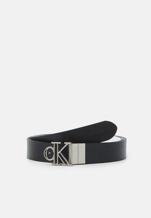 OUTLINE MONO PLAQUE - Belt - black/white