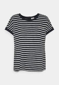 s.Oliver - KURZARM - Print T-shirt - navy strip - 0