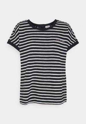 KURZARM - Print T-shirt - navy strip