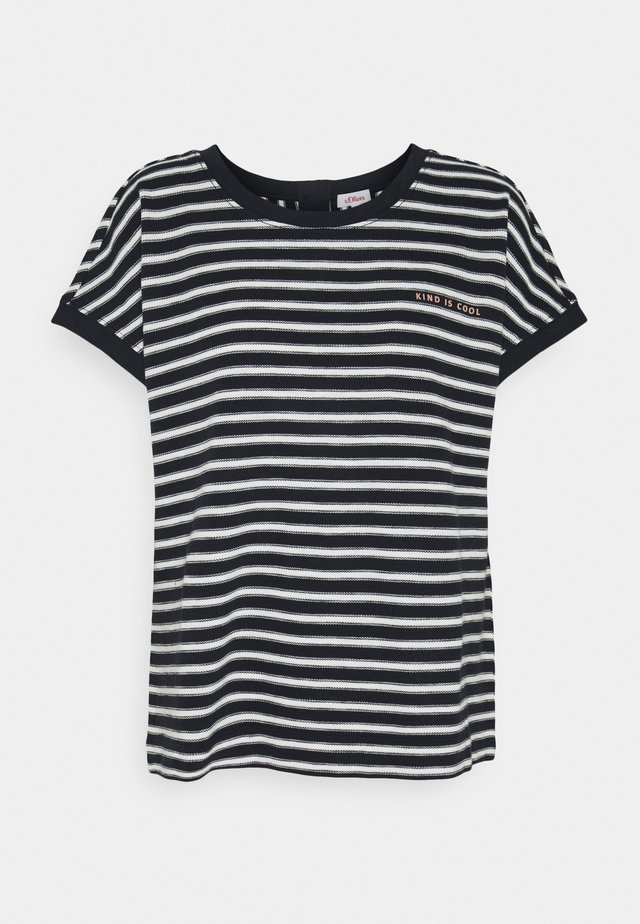 KURZARM - T-shirts print - navy strip