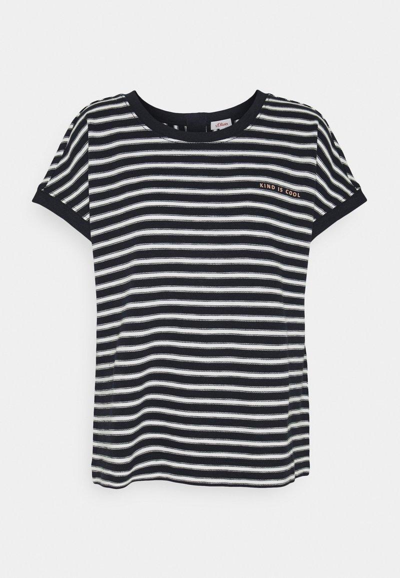 s.Oliver - KURZARM - Print T-shirt - navy strip