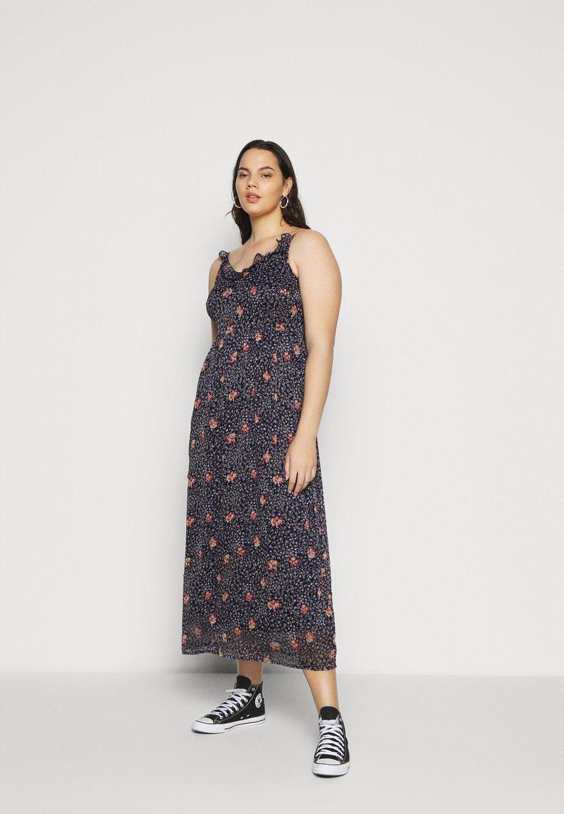 Vero Moda Curve - VMKAY SINGLET DRESS  - Robe longue - dark blue