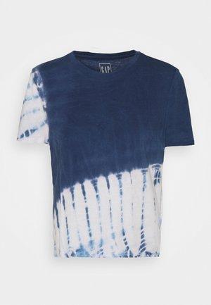 SHRUNKEN TEE - Print T-shirt - simply blue